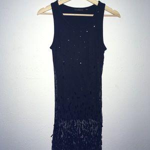 Donna Karan signature sequined meshed dress 6